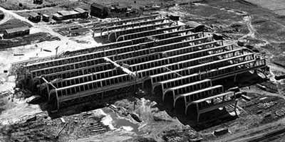 Textielfabriek uit de periode van de Wederopbouw, Overijssel
